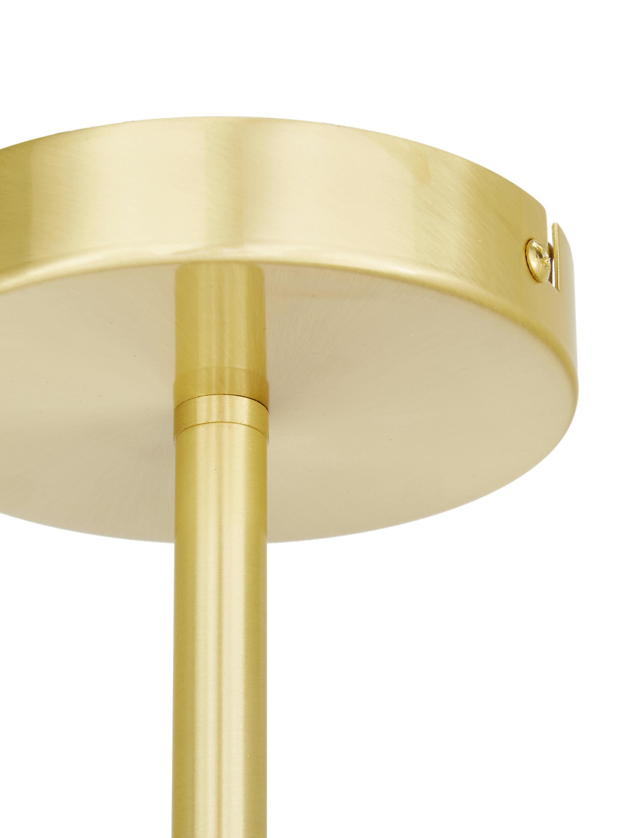 Deckenleuchte Aurelia in Gold, Weiß, Messing, Ø 110 x H 32 cm
