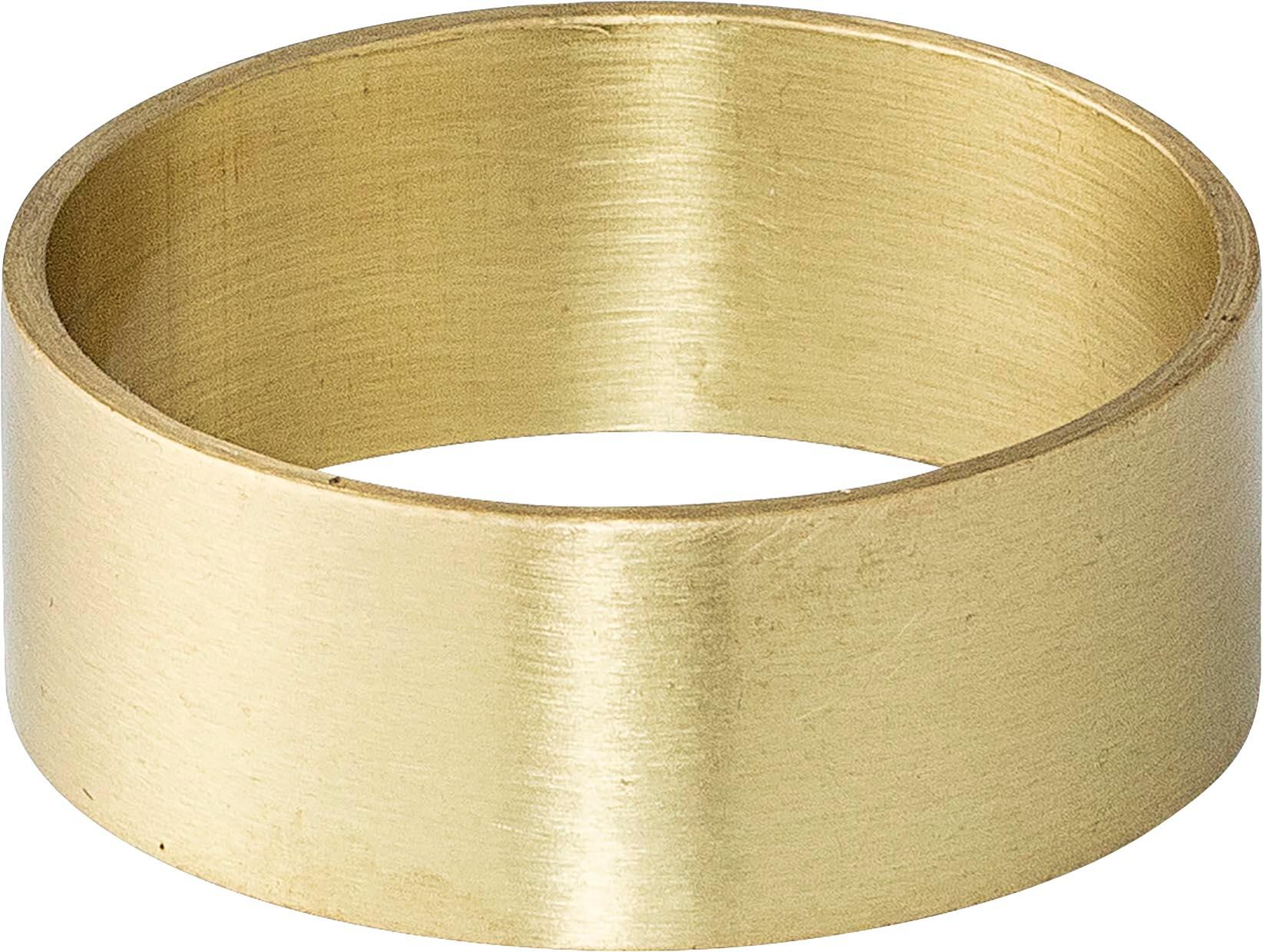 Obrączka na serwetkę Ronja, 4szt., Mosiądz, Mosiądz, Ø 5 cm