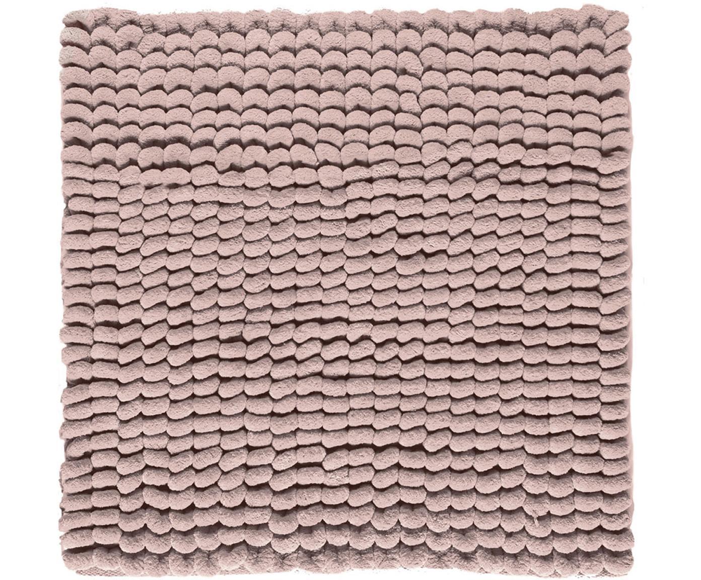 Zacht badmat Luka, 67% polyester, 33% katoen, Roze, 60 x 60 cm
