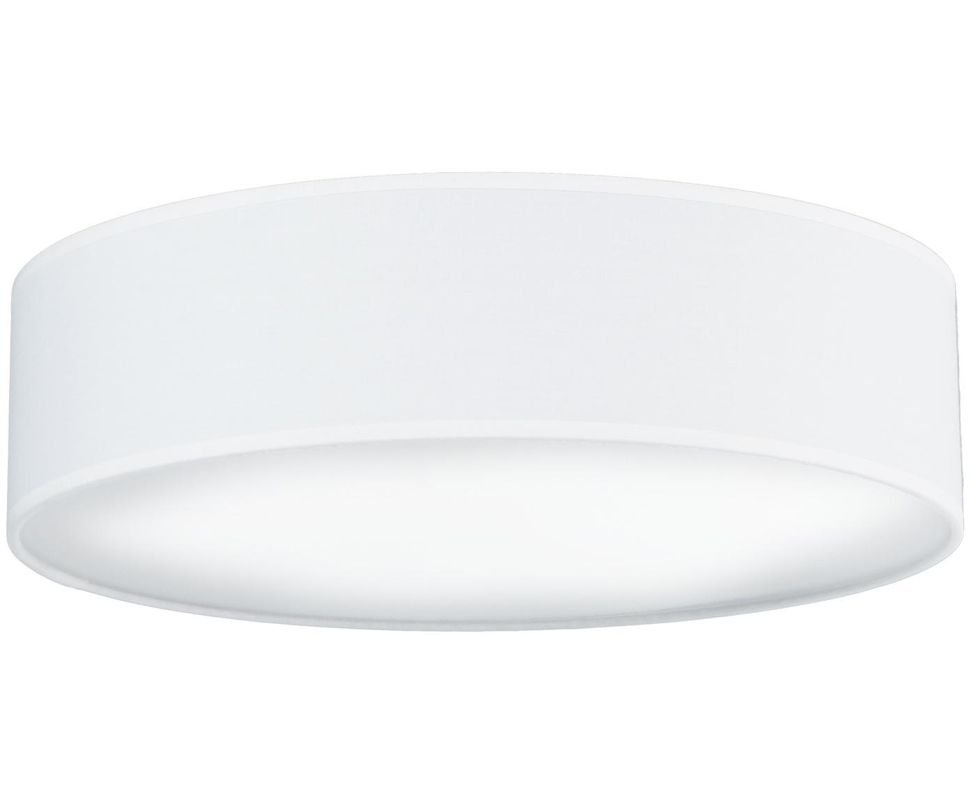 Handgefertigte Deckenleuchte Mika, Weiß, Ø 40 x H 10 cm