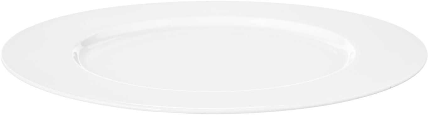 Bajoplato de porcelana Á Table, Porcelana fina de hueso (porcelana) Fine Bone China es una pasta de porcelana fosfática que se caracteriza por su brillo radiante y translúcido., Blanco, Ø 32 cm
