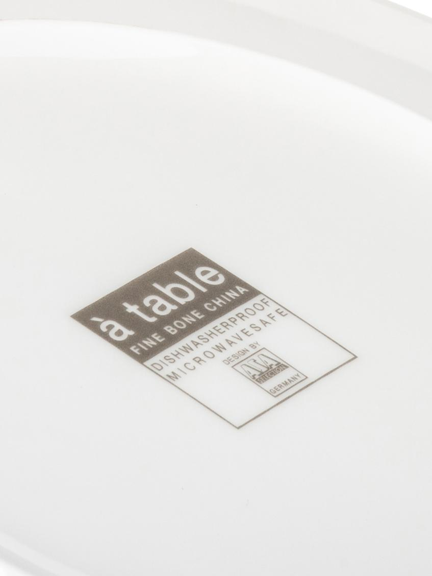 Onderbord à Table, Beenderporselein, Wit, Ø 32 cm