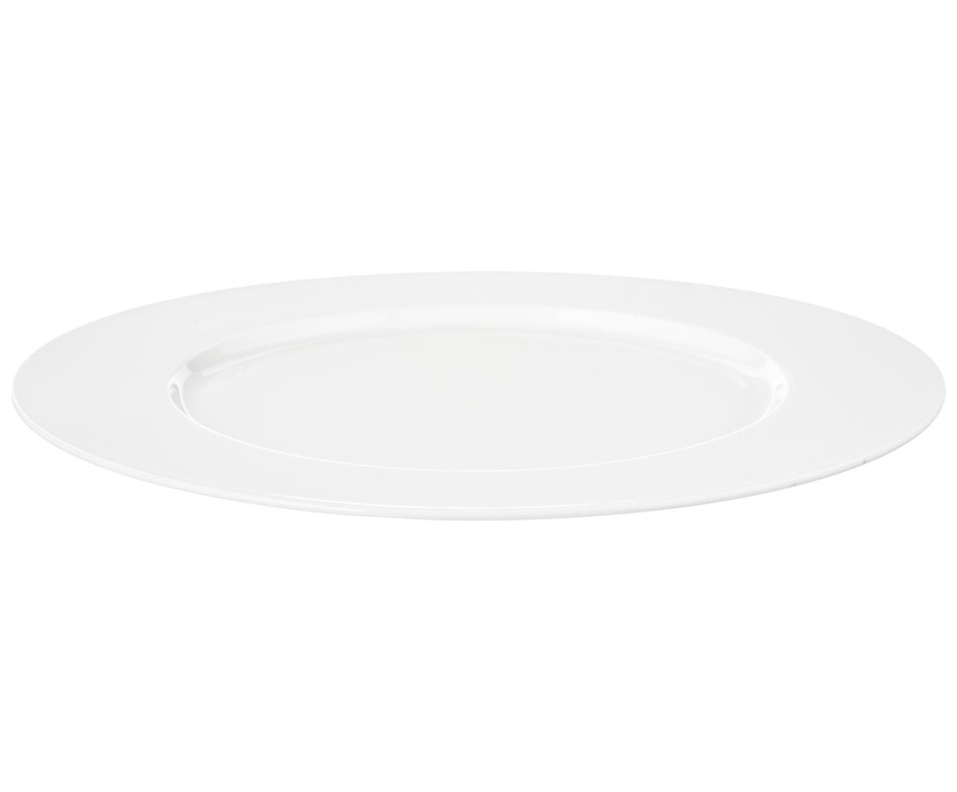 Bajoplato de porcelana Á Table, Porcelana fina, Blanco, Ø 32 cm