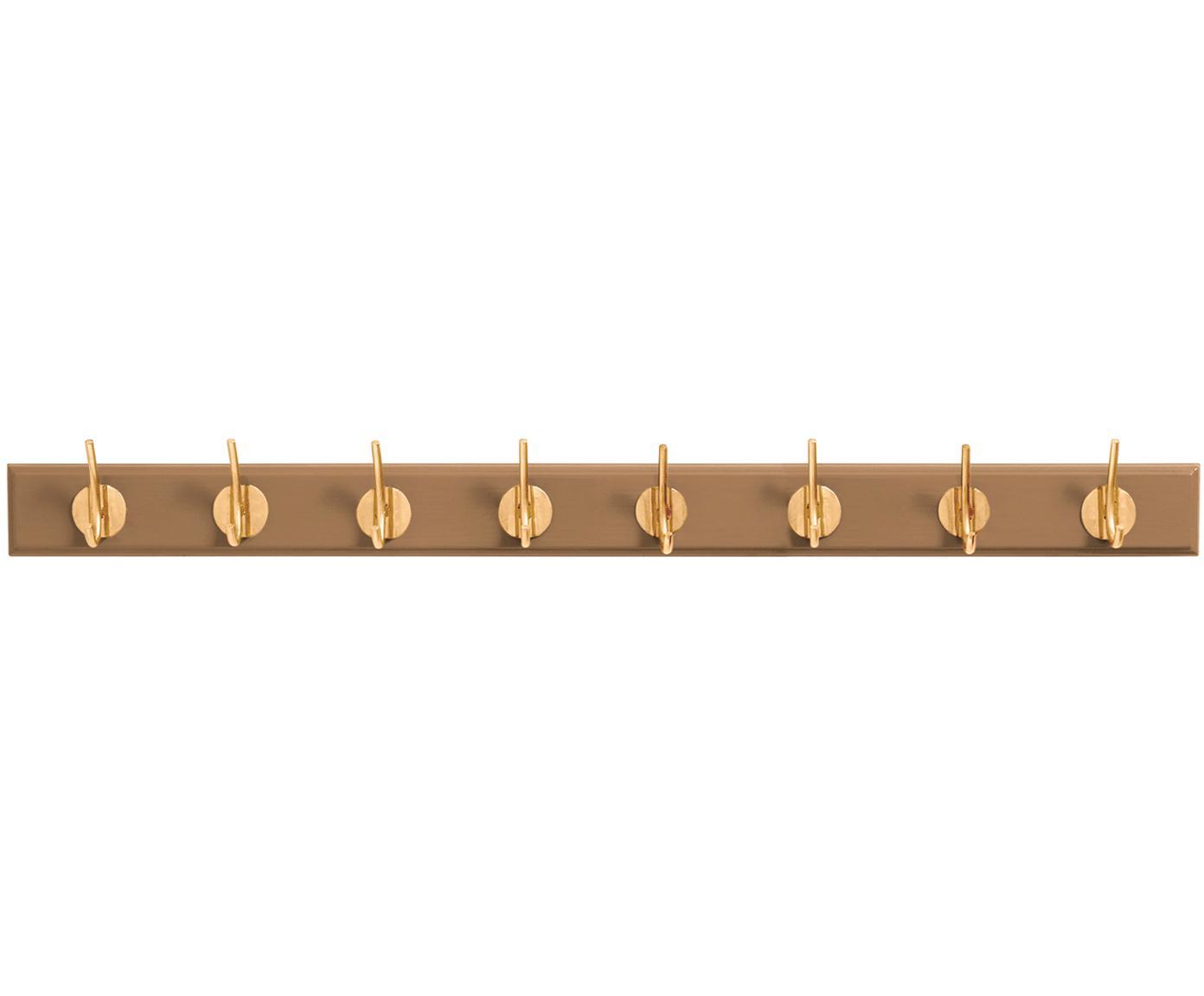 XL jassenhaak Aoife met metalen haak, Lijst: gelakt MDF, Kameelbruin, 90 x 7 cm
