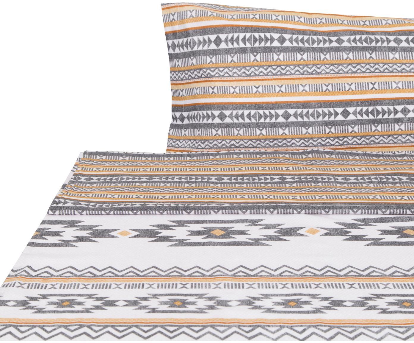 Sábana encimera Aztec, Algodón, Multicolor, Cama 90 cm (155 x 280 cm)