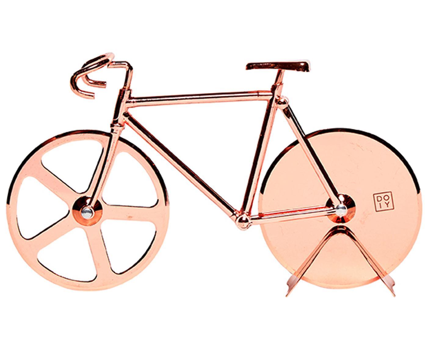 Kupferfarbener Pizzaschneider Velo im Fahrraddesign aus Edelstahl, Edelstahl, beschichtet, Kupferfarben, 23 x 13 cm