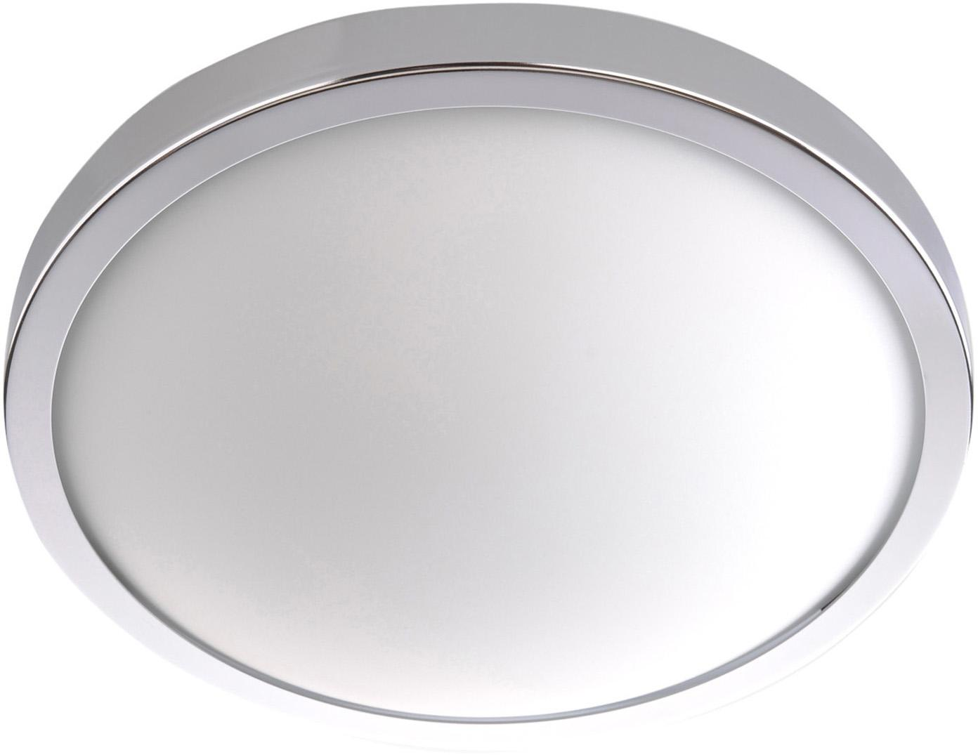Lampa sufitowa Calisto, Chrom, biały, Ø 22 x W 8 cm