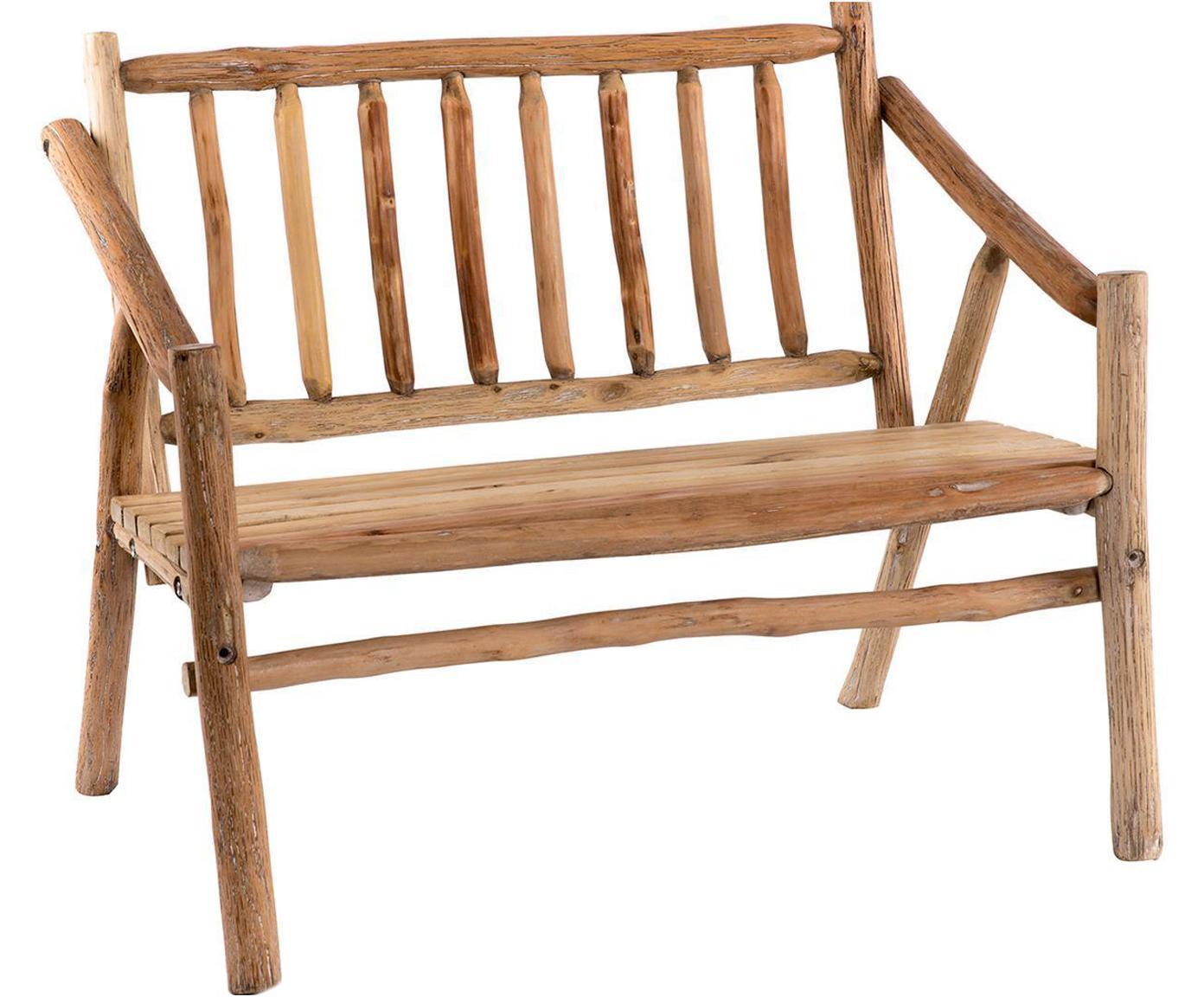 Banco de madera de abeto Aline, Madera de abeto, Natural, An 110 x Al 85 cm