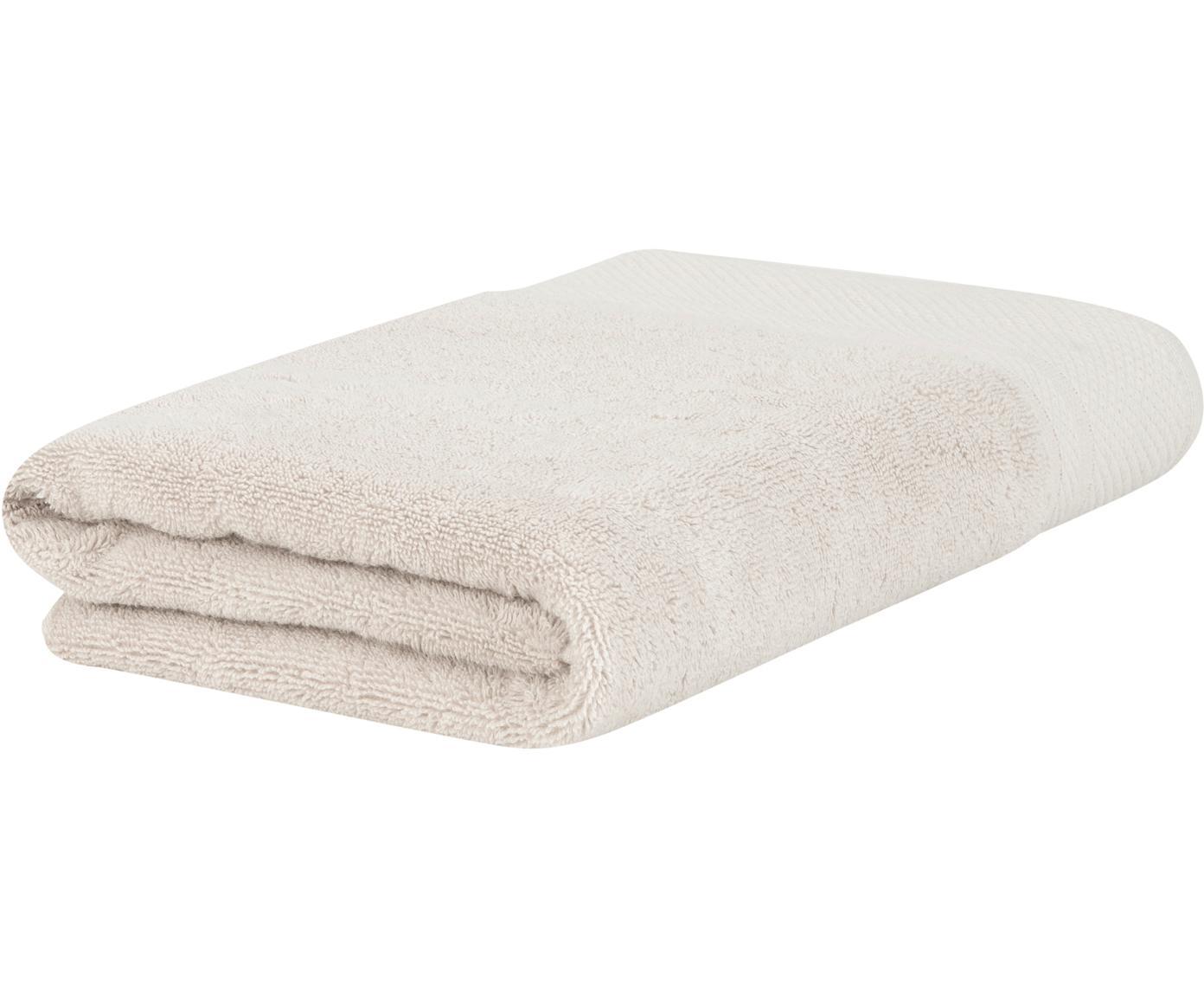 Handtuch Premium in verschiedenen Größen, mit klassischer Zierbordüre, Beige, Duschtuch