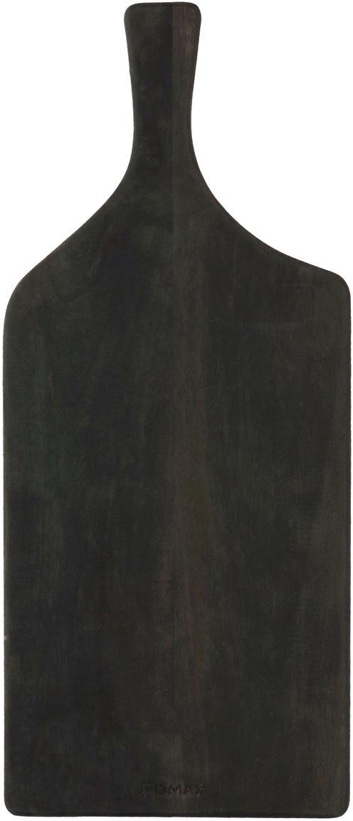 Schneidebrett Limitless aus Mangoholz, Mangoholz, beschichtet, Anthrazit, 50 x 22 cm