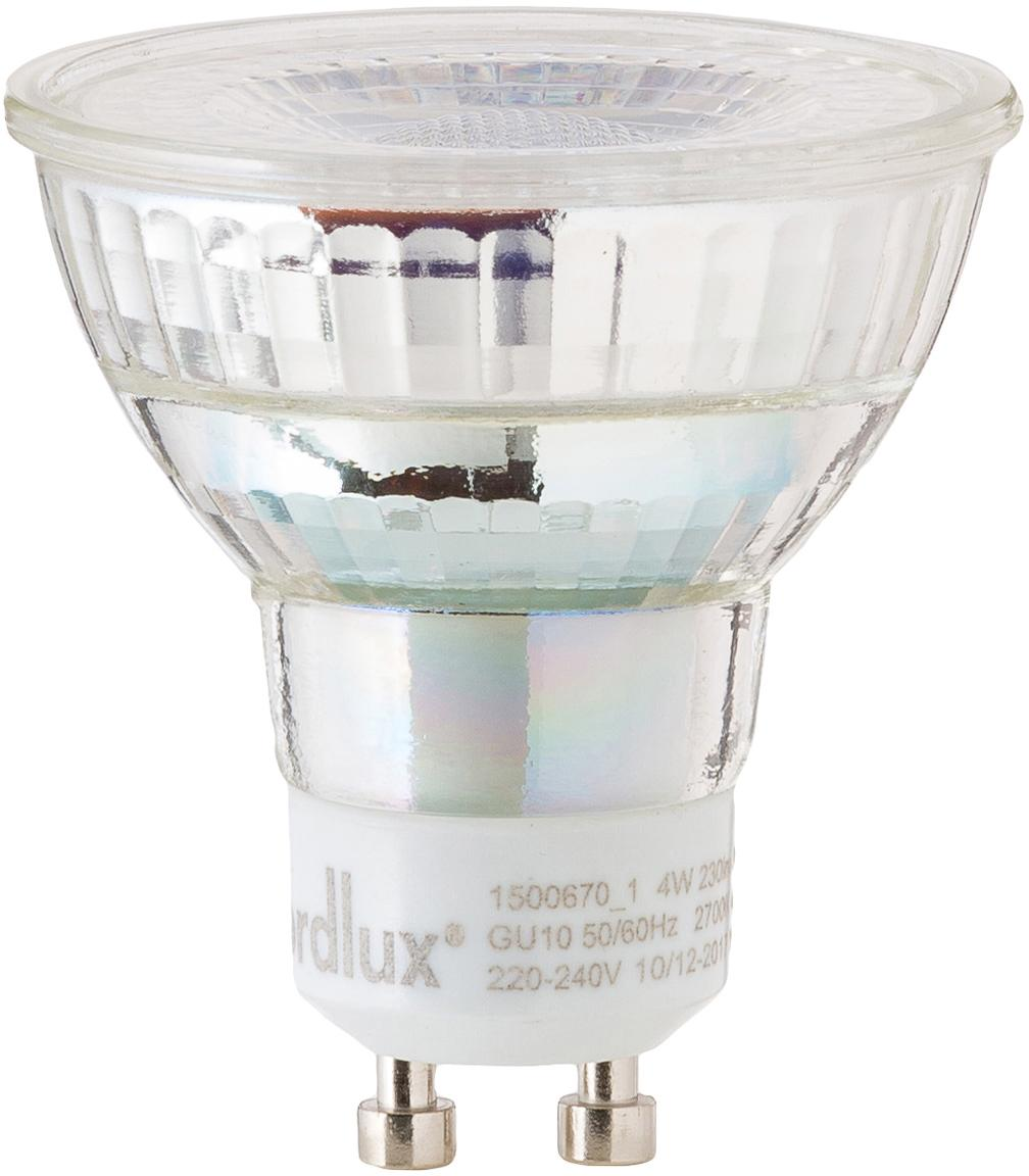 LED peertje Ferre (GU10/4W), Lampenkap: glas, Fitting: aluminium, Transparant, Ø 5 x H 6 cm