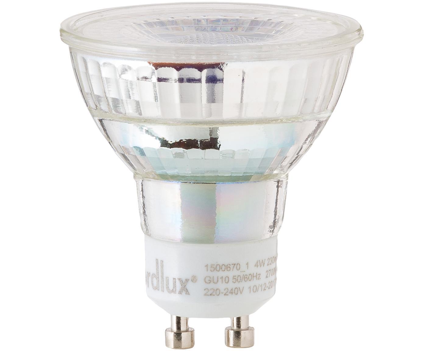 Bombilla LED Ferre (GU10/4W), Ampolla: vidrio, Casquillo: aluminio, Transparente, Ø 5 x Al 6 cm