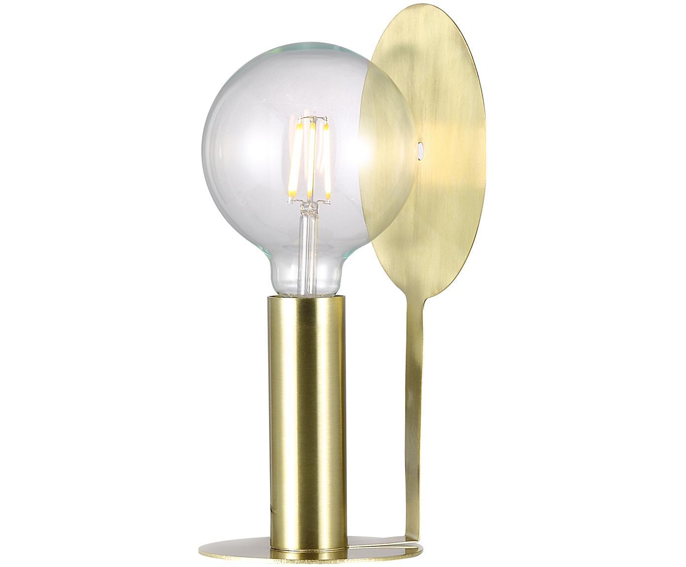 Lámpara de mesa de latón Dean, Latón, Latón, An 17 x Al 32 cm