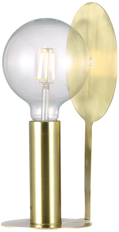 Lampa stołowa z mosiądzu Dean, Mosiądz, Mosiądz, S 17 x W 32 cm
