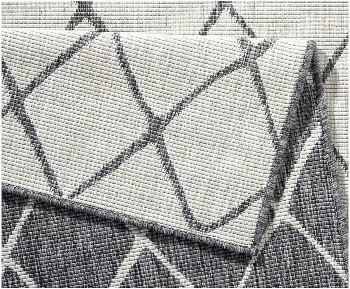 Vnitřní avenkovní oboustranný koberec Malaga, Šedá, odstíny krémové