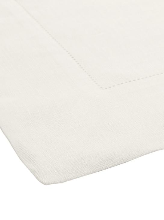 Mantel de lino Alanta, Blanco crema, De 6 a 8 comensales (An 160 x L 250 cm)