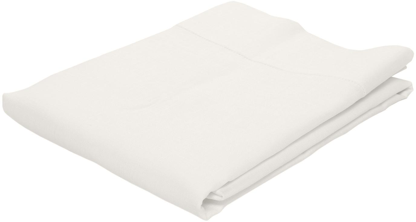 Mantel de lino Alanta, Blanco crema, De 4 a 6 comensales (An 130 x L 170 cm)