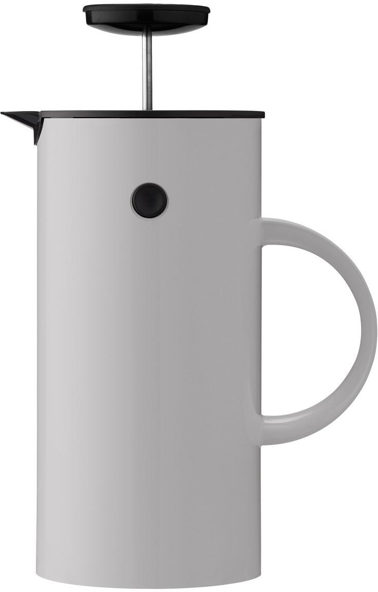 Caffettiera in grigio EM, Esterno: acciaio inossidabile rive, Interno: materiale sintetico ABS c, Grigio chiaro, 1 l