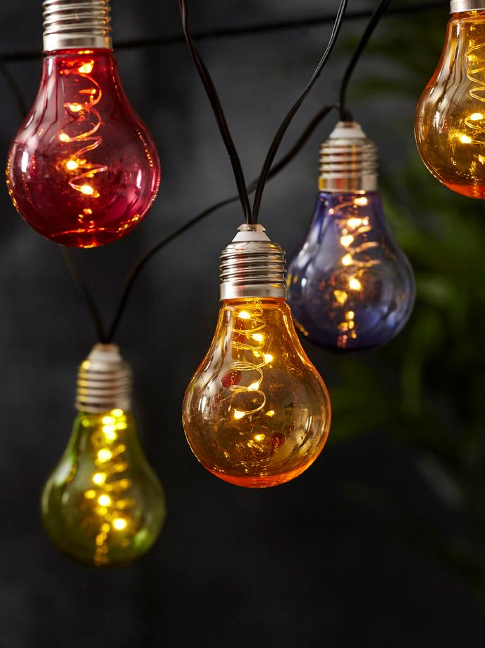 LED Lichterkette Glow, 150 cm, Merhfarbig, L 190 cm