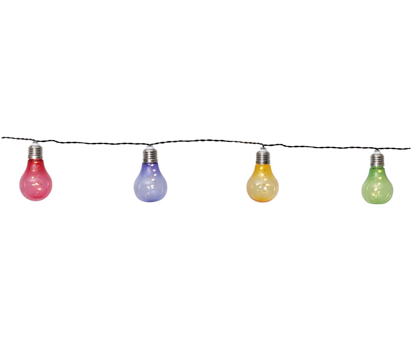 Guirnalda de luces LED Glow, 150cm, Cable: plástico (PVC), Multicolor, L 190 cm