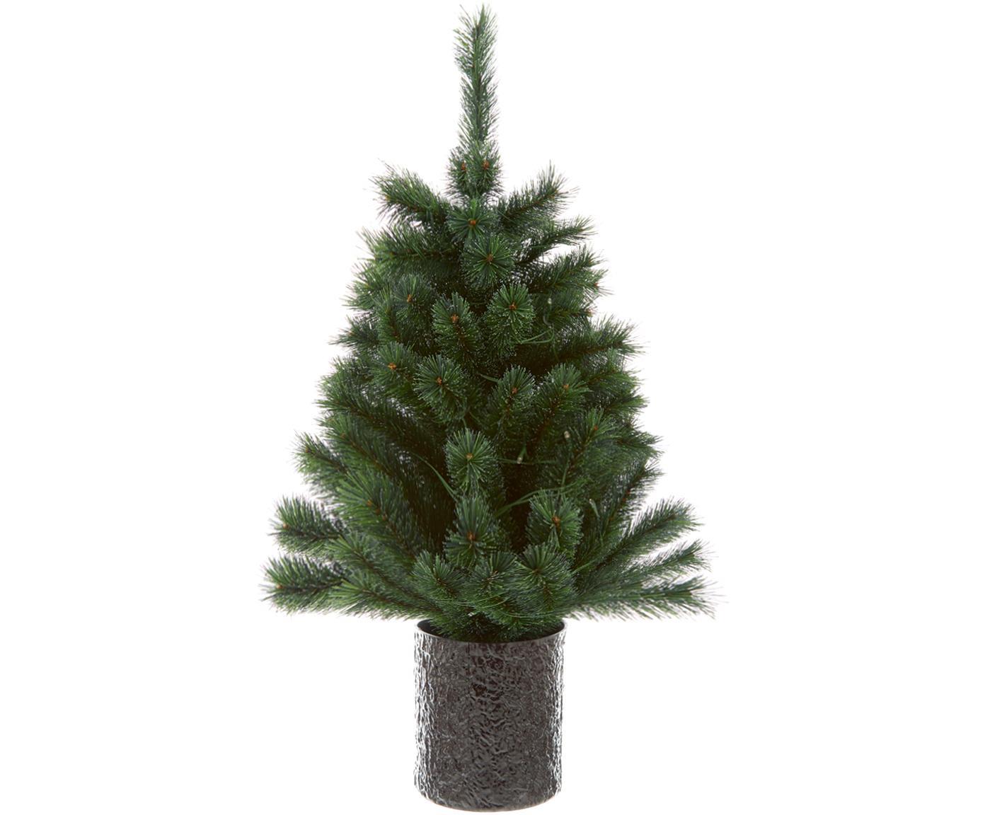 Batteriebetriebener, künstlicher LED Weihnachtsbaum Frosty Malmö, Kunststoff (Polyethylen), Grün, Ø 50 x H 90 cm
