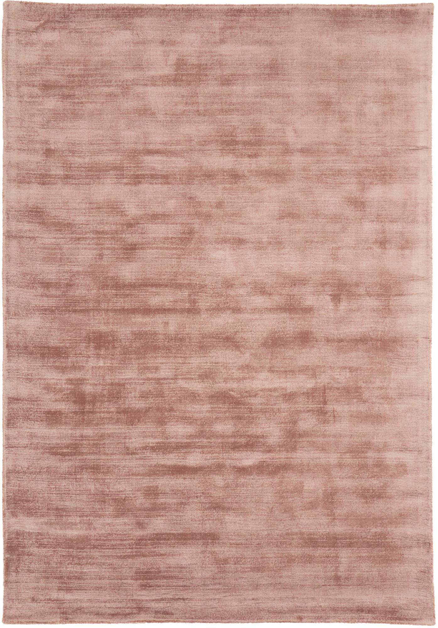 Handgewebter Viskoseteppich Jane in Terrakotta, Flor: 100% Viskose, Terrakotta, B 200 x L 300 cm (Größe L)