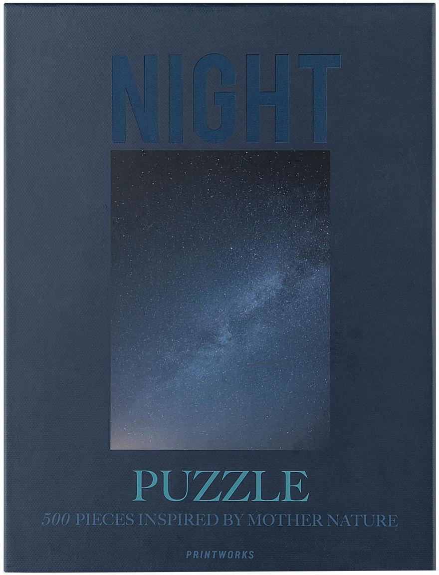 Puzzle Night, 500piezas, Papel, madera, Azul, An 25 x Al 4 cm