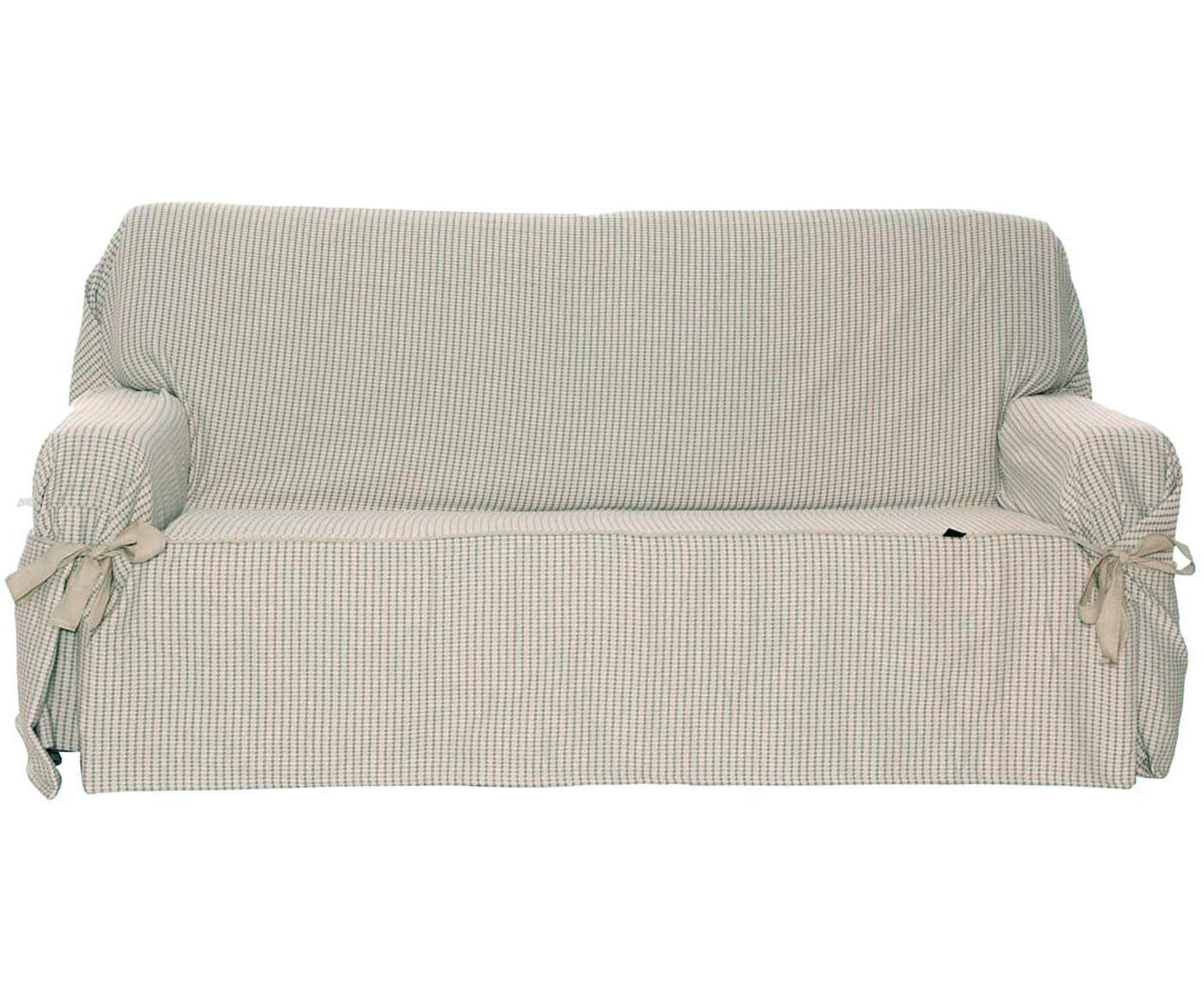 Funda de sofá Giovanna, Algodón sanforizado, Beige, crudo, 2 plazas (180 x 110cm)