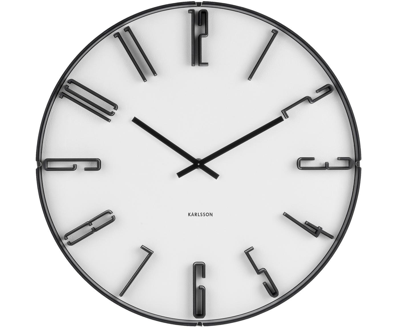 Wandklok Sentient, Kunststof, Wit, zwart, Ø 40 cm
