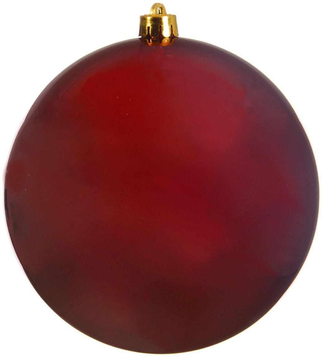Weihnachtskugeln Minstix Ø14cm, 2Stück, Kunststoff, Rot, Ø 14 cm