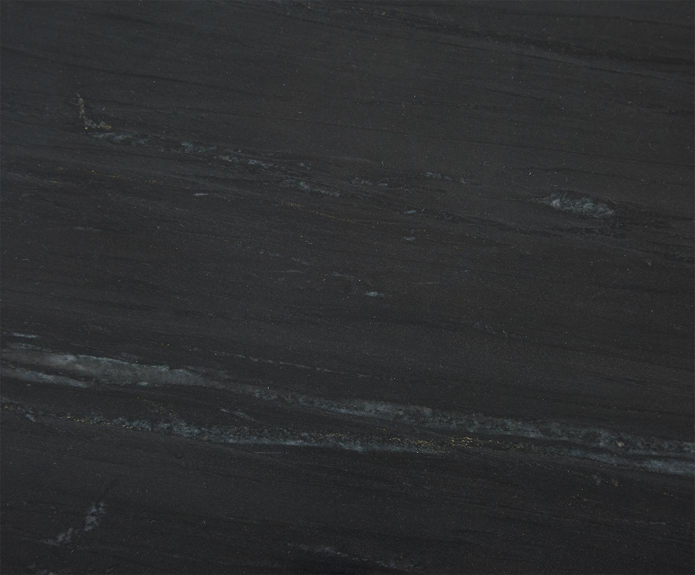 Komplet stolików pomocniczych z marmuru Ella, Stelaż: marmur naturalny, Stelaż: metal malowany proszkowo, Blaty: czarny marmur Regał: czarny, matowy, Różne rozmiary