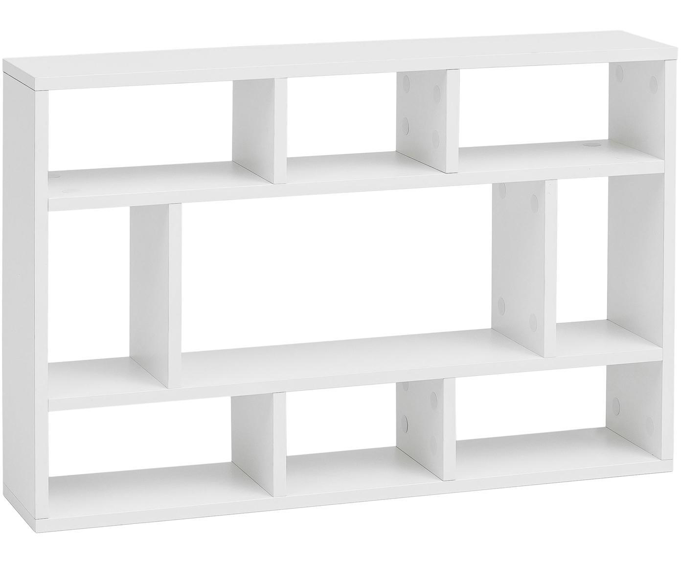 Estantería de pared pequeña Alek, Aglomerado recubierto de melamina, Blanco, An 75 x Al 51 cm