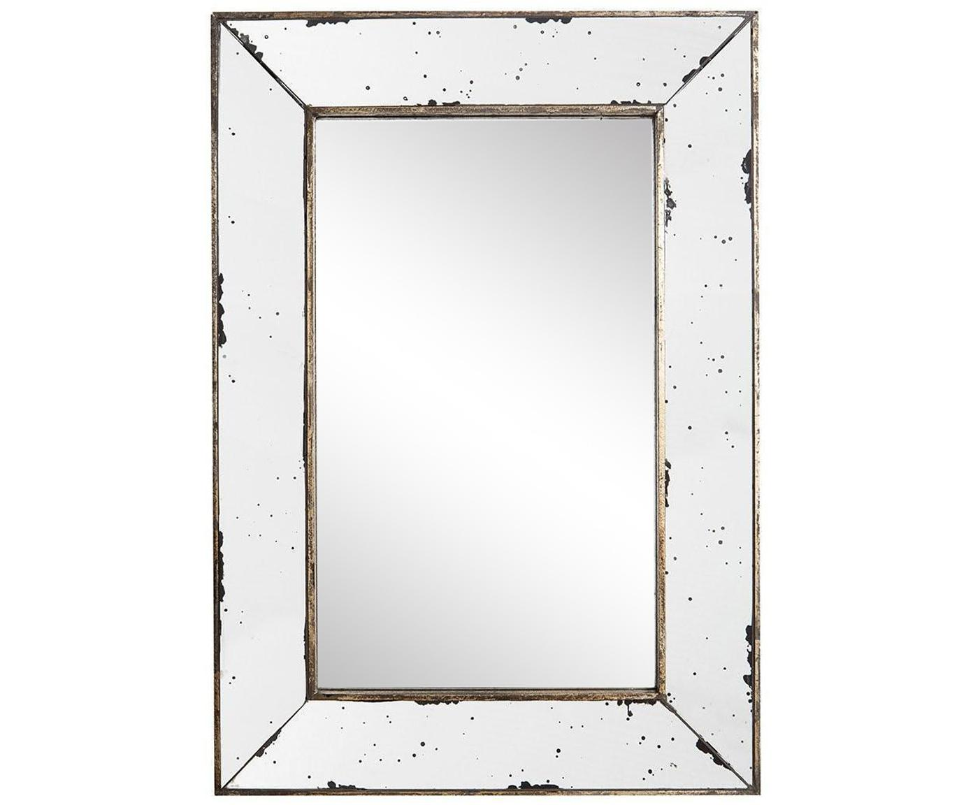 Espejo de pared Bruno, Metal, espejo de cristal, Latón, An 42 x Al 60 cm