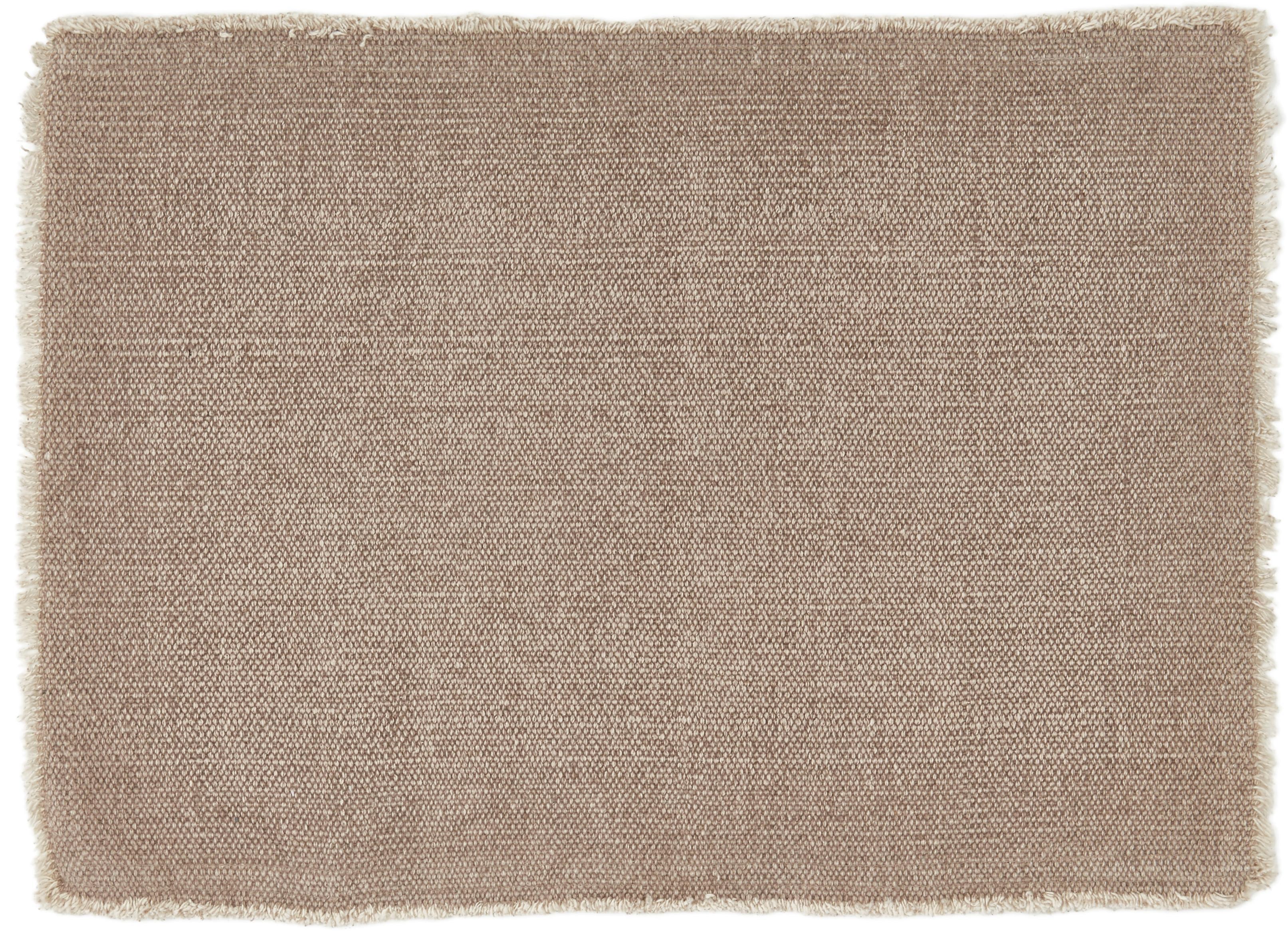 Placemats Edge, 6 stuks, 85% katoen, 15% gemengde vezels, Grijs, 33 x 48 cm