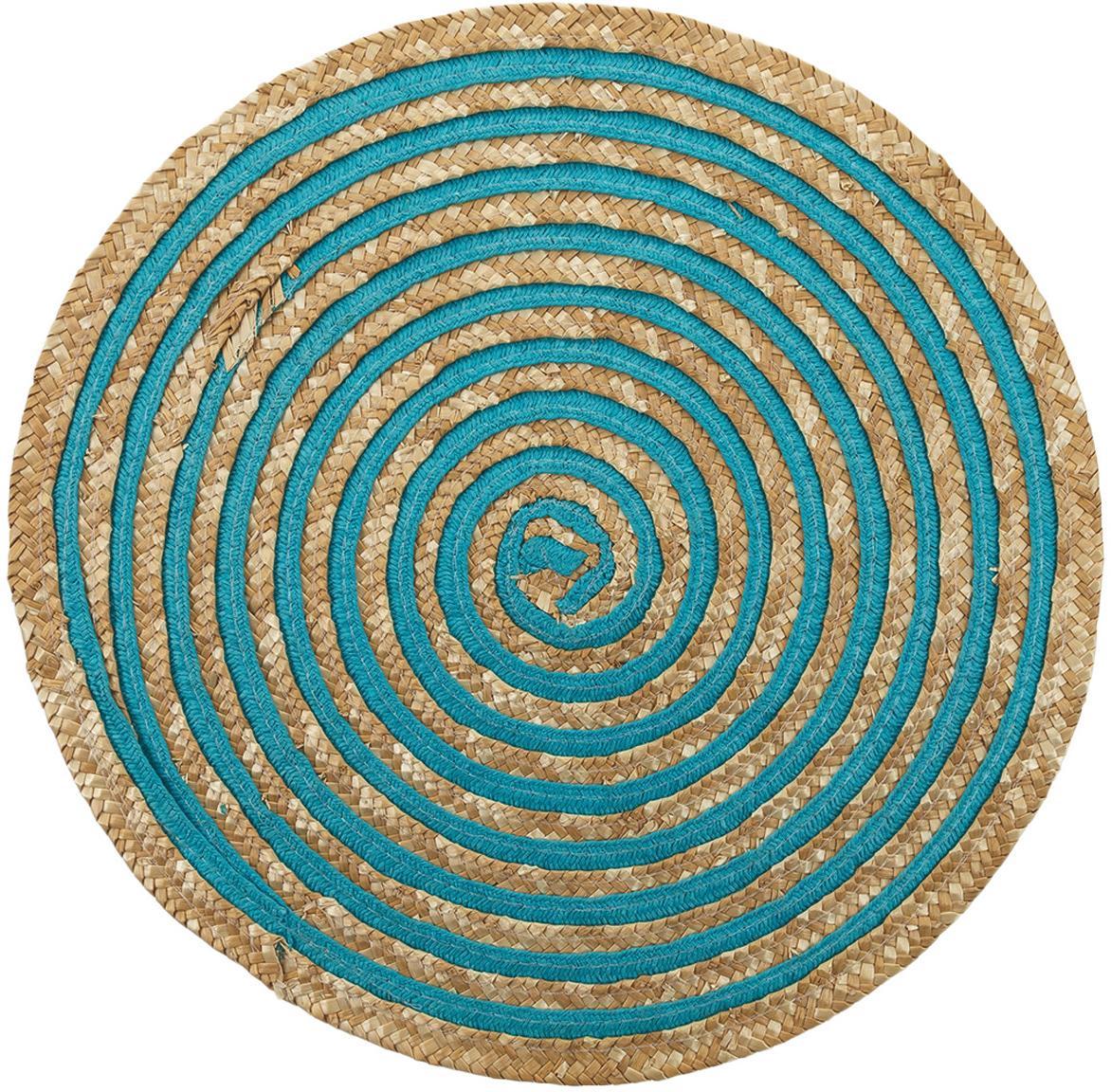 Set 6 tovagliette americane rotonde Baita, Fibre di stelo, Beige, multicolore, Ø 39 cm