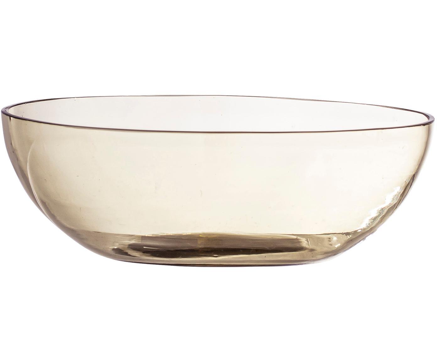Schaal Casie van gerecycled glas, Gerecycled glas, Bruin, transparant, Ø 5 x H 15 cm