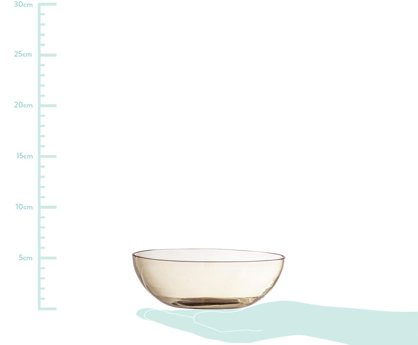 Miska z recyklovaného skla Casie, Hnědá, transparentní