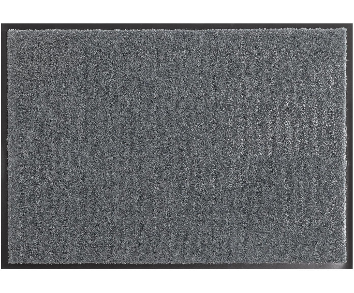 Polyamid-Fußmatte Milo, Vorderseite: Polyamid, Rückseite: Gummi, Grau, 39 x 58 cm