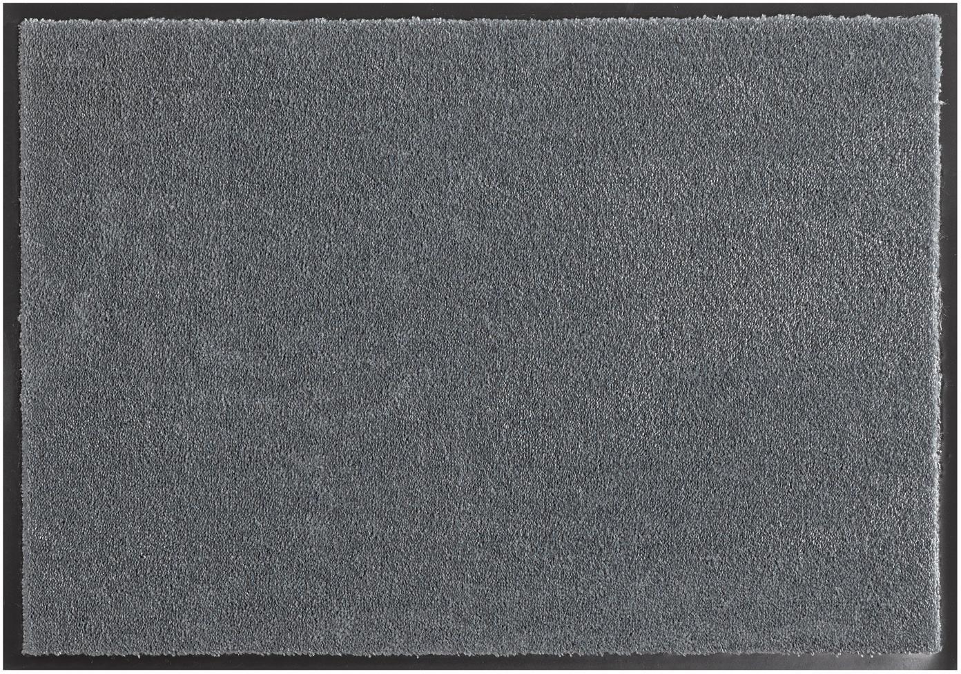 Polyamid-Fussmatte Milo, Vorderseite: Polyamid, Rückseite: Gummi, Grau, 39 x 58 cm