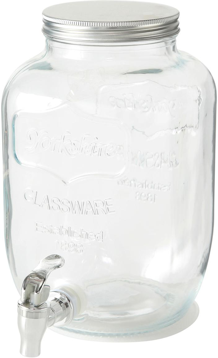 Dispenser bevande Dastan, Contenitore: vetro, Coperchio: metallo, Trasparente, Ø 15 x Alt. 26 cm