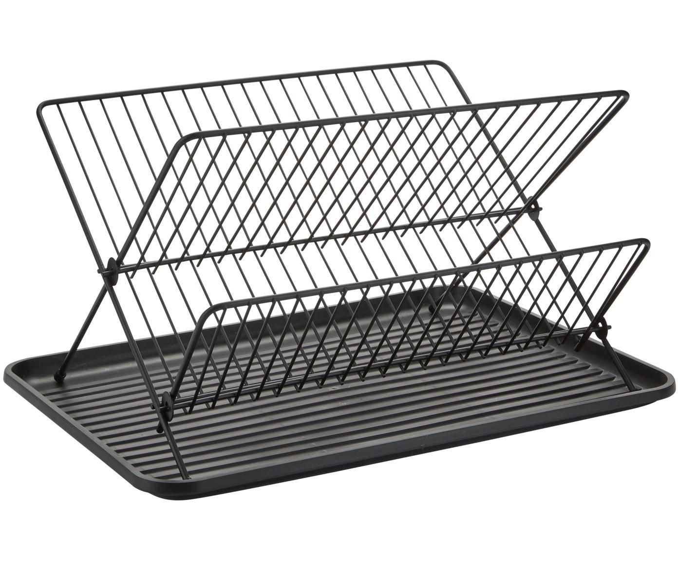 Escurreplatos Amo, Estructura: hierro recubierto, Negro, An 43 x Al 32 cm