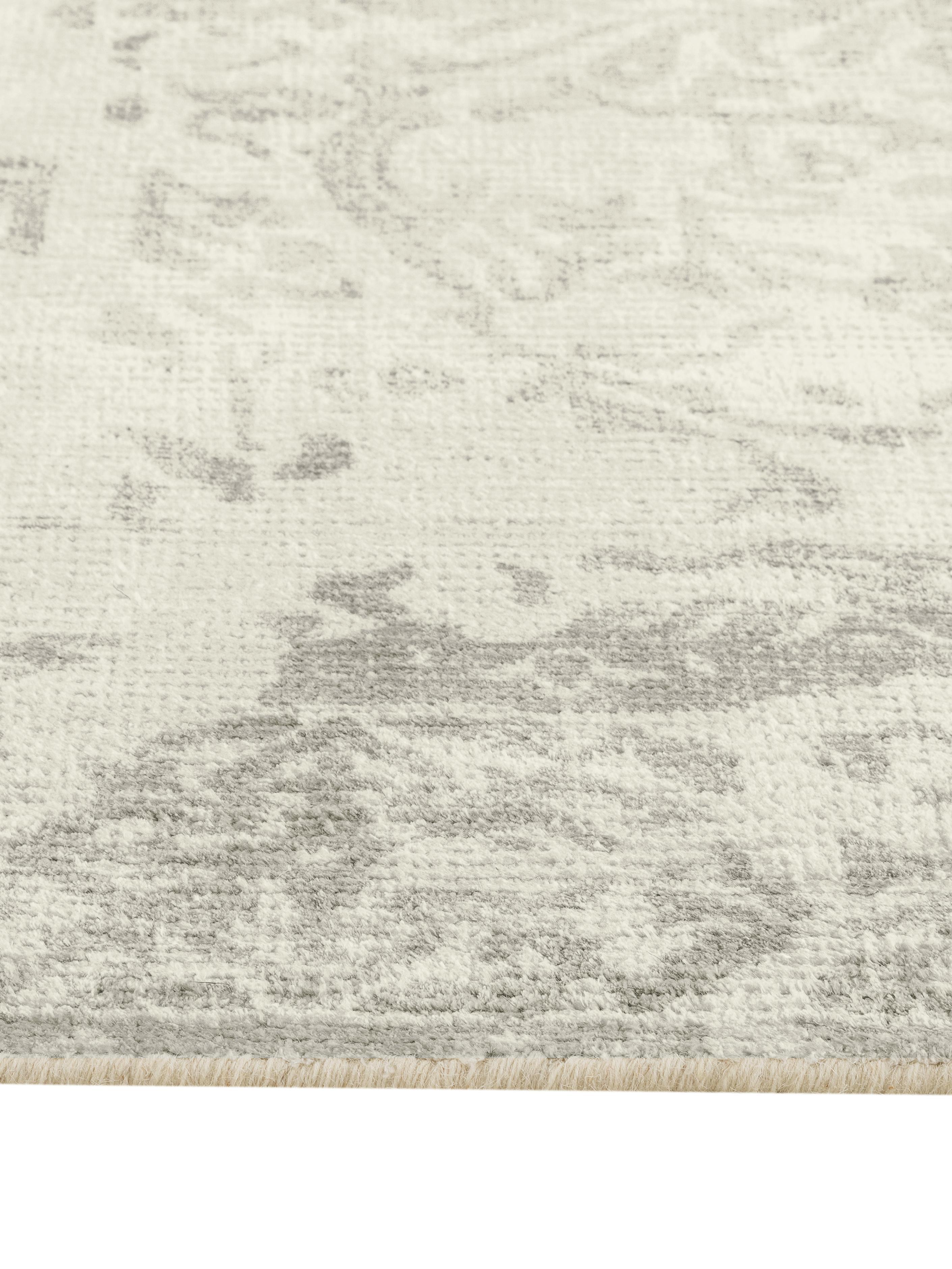 Tappeto vintage in lana/viscosa Cordoba, Beige, grigio chiaro, Larg. 200 x Lung. 300 cm  (taglia L)