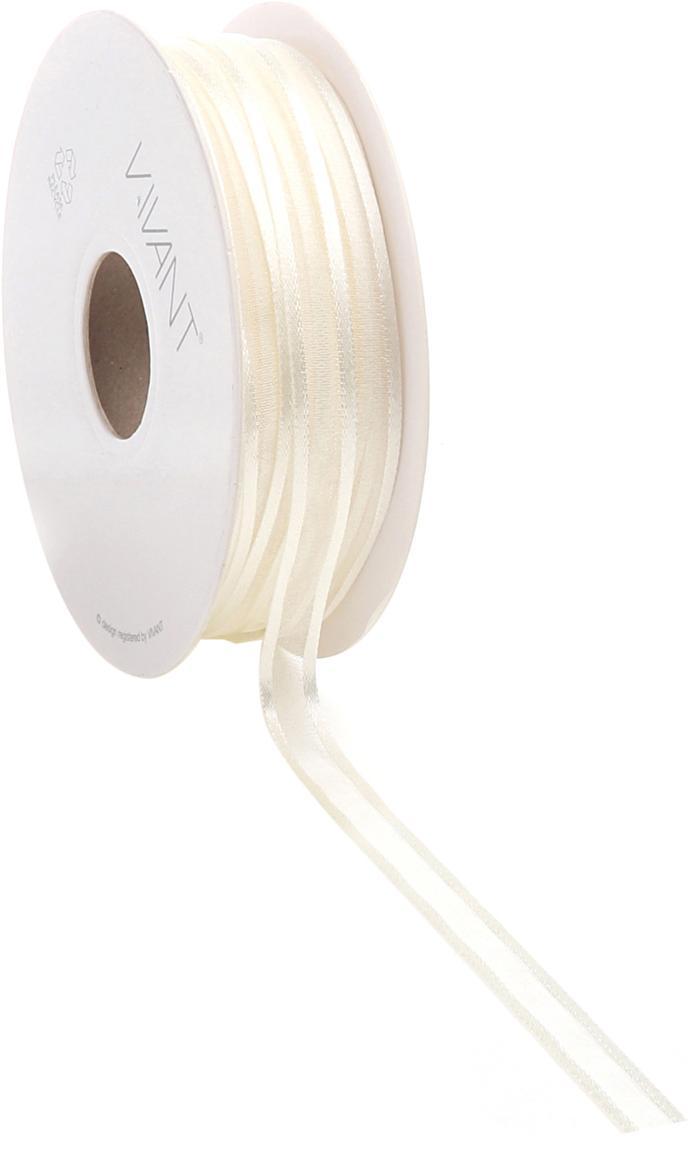 Geschenkband Pregia, Nylon, Weiß, 1 x 5000 cm