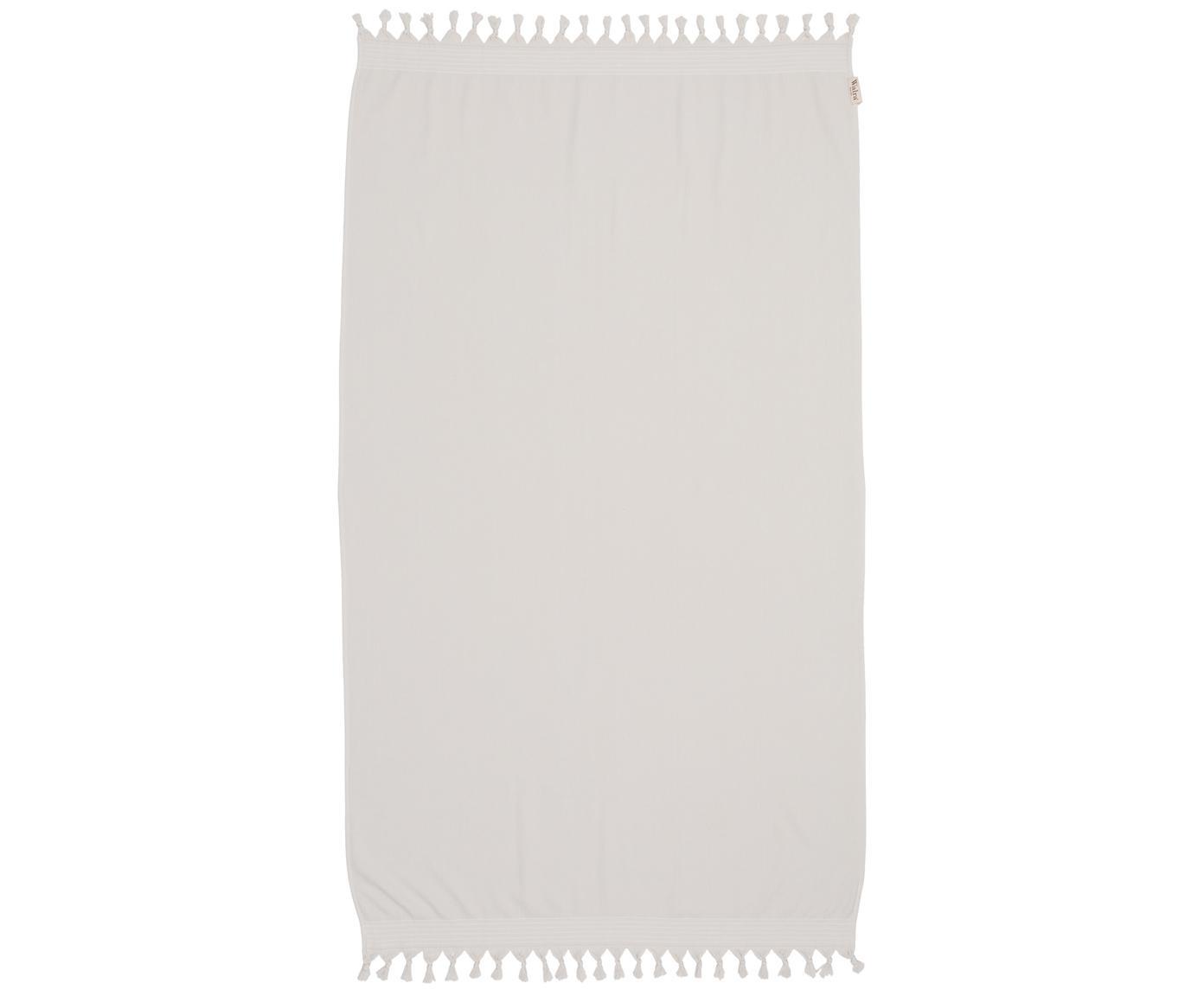 Fouta Soft Cotton, Reverso: afelpado, Beige claro, blanco, An 100 x L 180 cm