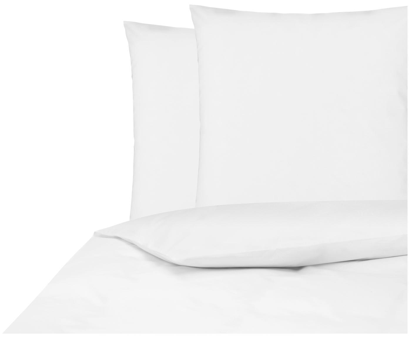 Baumwollperkal-Bettwäsche Elsie in Weiß, Webart: Perkal Fadendichte 200 TC, Weiß, 200 x 200 cm + 2 Kissen 80 x 80 cm
