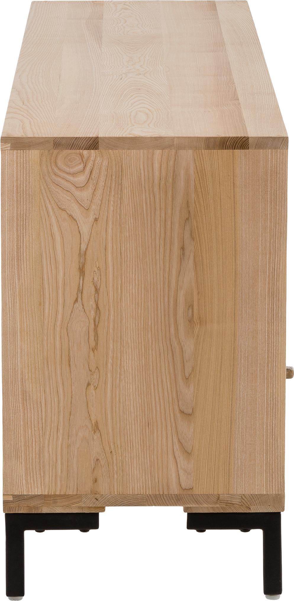 Skříňka zmasivního dřeva Leif, Jasanové dřevo