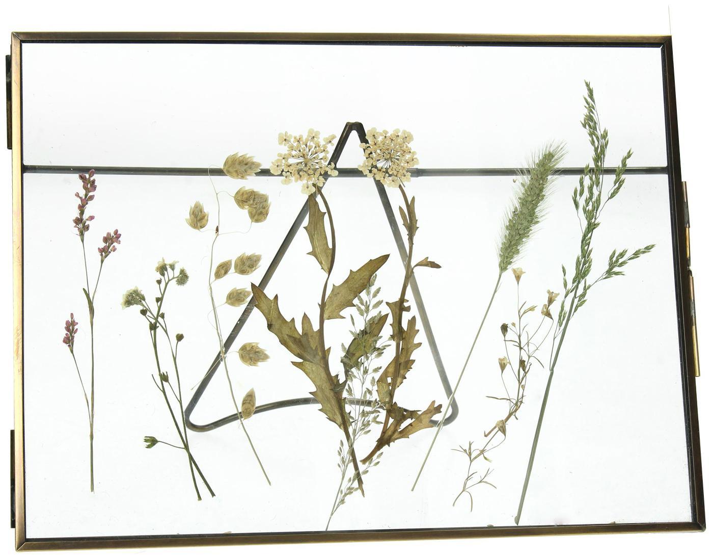 Ramka na zdjęcia Dried Flower, Metal powlekany, Odcienie mosiądzu, 20 x 15 cm