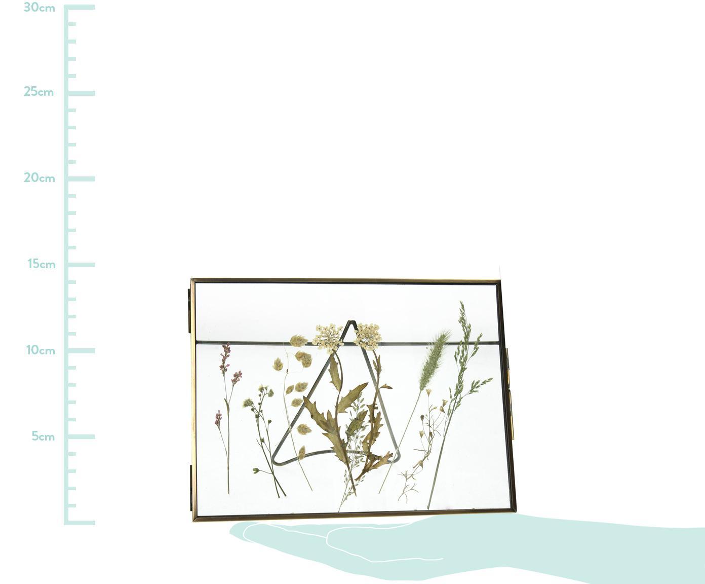 Cadre métal Dried Flower, Couleur laitonnée