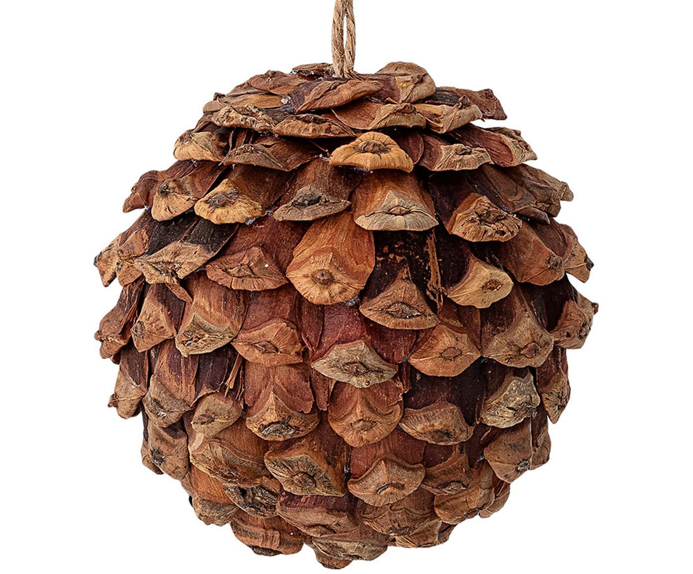 Baumanhänger Pinecone, Holz, Schaumstoff, Braun, Ø 8 cm