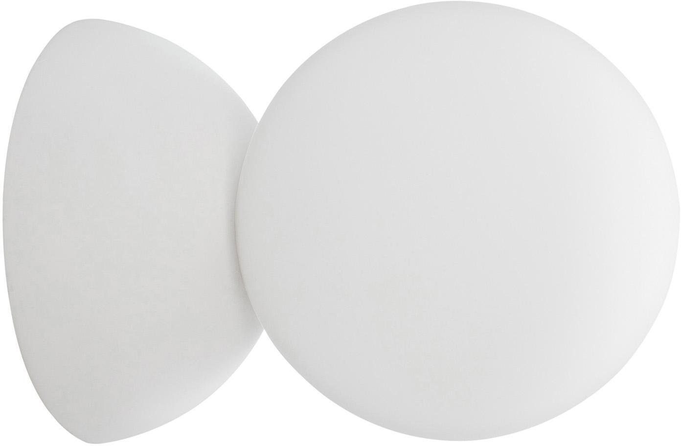 Kinkiet ze szkła opałowego Zero, Biały, Ø 10 x G 14 cm